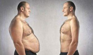 flat stomach of man