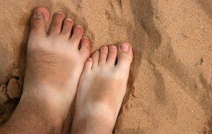 tanned leg
