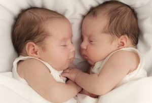 having twin baby