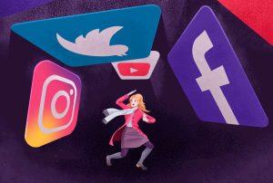 social media that affects brain