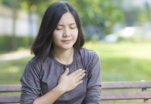 chest pain on woman